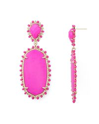 Kendra Scott | Pink Parsons Earrings | Lyst