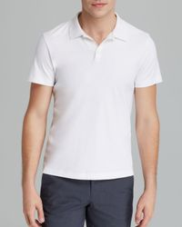 Theory - White Boyd Census Solid Piqué Polo - Slim Fit for Men - Lyst