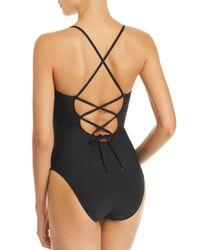 La Blanca - Black Solid Petal One Piece Swimsuit - Lyst