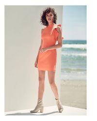 Black Halo - Pink Pabla Ruffle-trim Mini Dress - Lyst