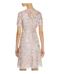 Elie Tahari - Pink Laura Lace Dress - Lyst