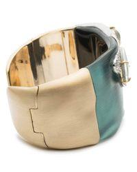 Alexis Bittar - Multicolor Roxbury Stone & Crystal Open Cuff Bracelet - Lyst