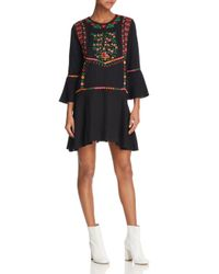 Joie - Black Gosinda Embroidered Dress - Lyst