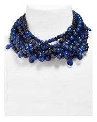 BaubleBar - Blue Bubblebeam Statement Necklace - Lyst