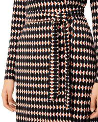 Hobbs - Black Delilah Printed Wrap Dress - Lyst