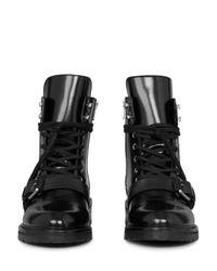 AllSaints - Black Women's Donita Leather Lace Up Combat Boots - Lyst