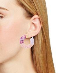 BaubleBar - Pink Dessa Multicolor Resin Hoop Earrings - Lyst