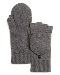Bloomingdale's Gray Pop Top Cashmere Gloves for men