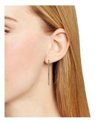 Nadri - Metallic Pavé Teardrop Hoop Earrings - Lyst