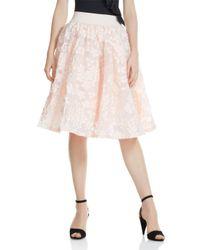 Maje - Pink Joshua Petal-appliqué Midi Skirt - Lyst