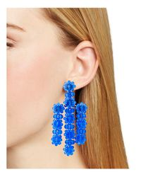 Kate Spade - Blue Drop Earrings - Lyst