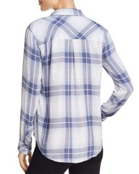 Rails - Blue Hunter Plaid Blouse - Lyst