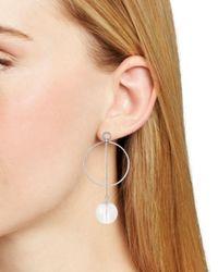 Aqua - Metallic Loop & Ball Drop Earrings - Lyst