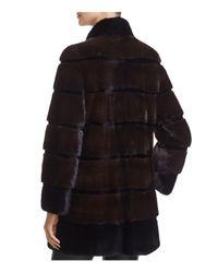Maximilian - Black Stand Collar Mink Fur Coat - Lyst