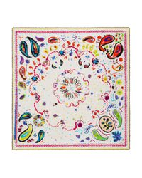 Jane Carr - White Fauve Floral Paisley Print Scarf - Lyst