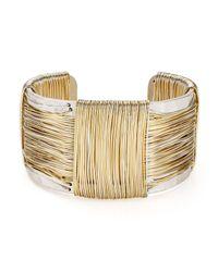 Robert Lee Morris - Metallic Two-tone Wire Cuff - Lyst