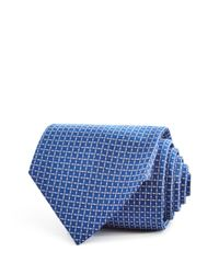 Turnbull & Asser - Blue Textured Squares Geometric Neat Classic Tie for Men - Lyst