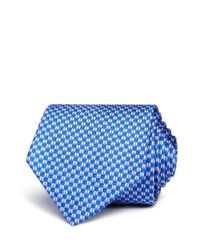 BOSS - Blue Geometric Neat Geometric Silk Classic Tie for Men - Lyst