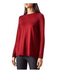 Hobbs | Red Cassidy Merino Wool-blend Sweater | Lyst