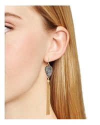 BaubleBar - Metallic Starfire Druzy Earrings - Lyst
