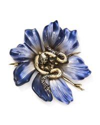 Alexis Bittar - Blue Flower Snake Pin - Lyst