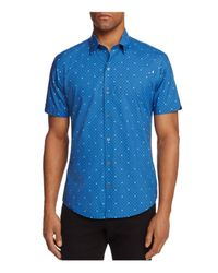 Zachary Prell | Blue Souza Medallion Dot Regular Fit Button-down Shirt for Men | Lyst