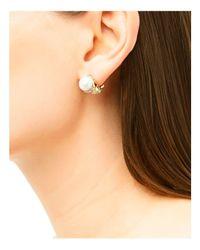 John Hardy - Metallic Dot 18k Yellow Gold Diamond Pavé Earrings With Cultured Freshwater Pearls - Lyst