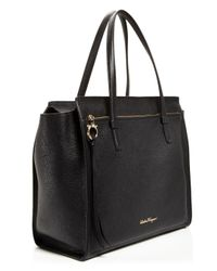 Ferragamo - Natural Large Amy Tote - Lyst