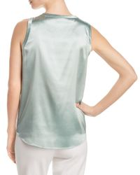 Lafayette 148 New York - Multicolor Reversible Perla Silk Blouse - Lyst