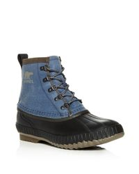 Sorel - Green Men's Cheyanne Ii Short Lace Up Boots for Men - Lyst