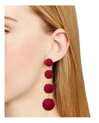 Aqua - Red Margot Ball Drop Earrings - Lyst