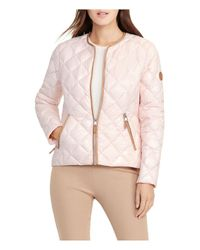 Ralph Lauren - Pink Lauren Short Diamond-quilted Down Jacket - Lyst