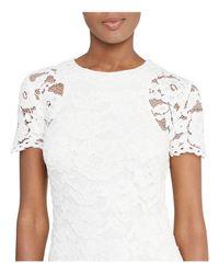 Ralph Lauren - White Lauren Lace Dress - Lyst