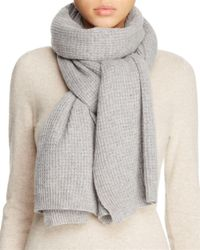 Vince - Gray Thermal Wool & Cashmere Scarf - Lyst