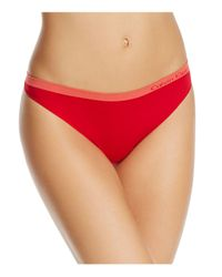Calvin Klein - Red Pure Seamless Thong - Lyst