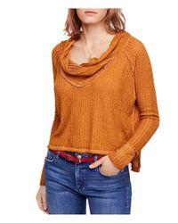 Free People - Orange Wildcat Thermal Sweater - Lyst