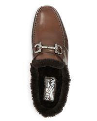Ferragamo - Brown Men's Duca Loafers for Men - Lyst