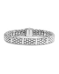 Lagos | Metallic Sterling Silver Caviar Beaded Rope Bracelet | Lyst
