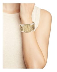 Robert Lee Morris - Metallic Two-tone Wire Cuff - Lyst