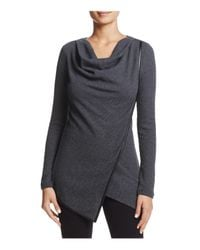 Marc New York | Gray Andrew Marc Performance Asymmetric Thermal Top | Lyst