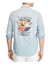 Polo Ralph Lauren - Blue Worker Classic Fit Button-down Shirt for Men - Lyst