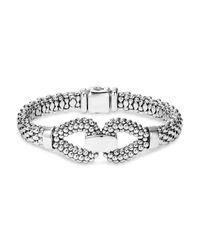 Lagos   Metallic Sterling Silver Derby Caviar Bracelet   Lyst