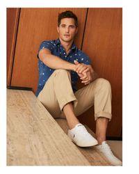 Polo Ralph Lauren - Blue Classic Fit Popover Shirt for Men - Lyst