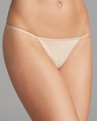 Calvin Klein - Natural Sleek Model Thong - Lyst
