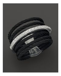 Charriol | Metallic Celtic Noir Collection Nautical Cable Ring, .09 Ct. T.W. | Lyst