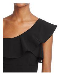 Bardot - Black Ruffled One-shoulder Dress - Lyst