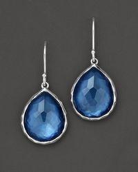 Ippolita | Metallic Sterling Silver Wonderland Teardrop Earrings In Indigo | Lyst