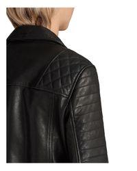 AllSaints - Black Bryden Leather Biker Jacket - Lyst