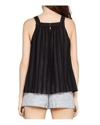 BCBGeneration - Black Shirred Square-neck Tank - Lyst