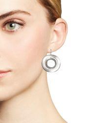 Ippolita - Metallic Sterling Silver Glamazon® Stardust Open Disc Pavé Diamond Drop Earrings - Lyst